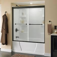 shower door spacer delta crestfield 60 in x 58 1 8 in semi frameless sliding