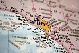 Map Of Long Beach Map Of Los Angeles Metro Area Stock Photo Picture And Royalty