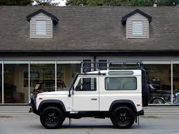 white land rover defender 1995 land rover defender 90 station wagon copley motorcars