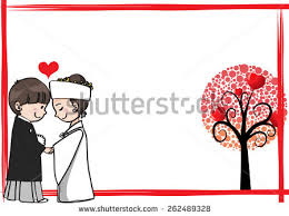 wedding wishes japan japanese wedding greeting card border stock vector 262489328