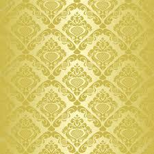 Basta papel de parede sem costura ouro - estilo retrô — Vetor de Stock  #OW98