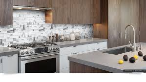 White Glass Metal MODERN BACKSPLASH TILE For Contemporary To - Modern backsplash tile