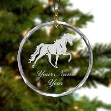 online store personalized round glass crystal christmas ornament