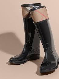 Rainboots House Check Rain Boots In Black Women Burberry