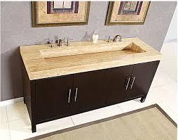 Double Vanity Cabinet Silkroad Exclusive Travertine Top 83 Inch Double Sink Vanity