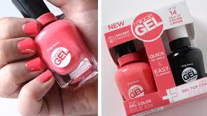 gel nail light sally s beauty sally hansen miracle gel nail polish review youtube
