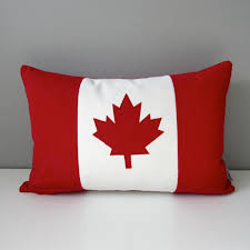 Canada Flag Colors Canada Flag Pillow Cover Canadian Flag Outdoor Pillow Cover