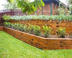 retaining wall garden wood champsbahrain com