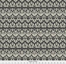 Ikat Home Decor Fabric by Ikat Pattern Fabric Black Cream Tribal Ikat By Bohemiangypsyjane