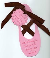 Craft Invitation Card Ballet Shoe Birthday Invitation Ballerina Party Pinterest
