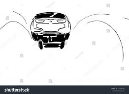 car takes off bottom view extreme stock vector 737386480