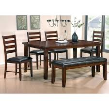 steve silver sao paulo 6 piece casual dining table bench u0026 chair