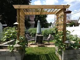 raised gardening bed with lush vegetation part of landscape idolza