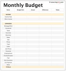 printable budget planner template free monthly budget worksheet template printable income planner