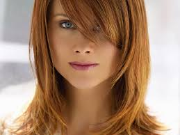 layered hairstyle for medium length hair with side fringe side
