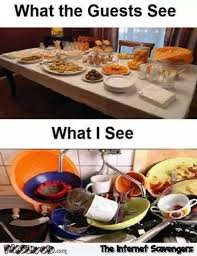 Funny Breakfast Memes - what the guests see versus what i see funny meme pmslweb