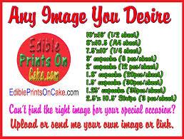 custom edible images custom order edible birthday cake and cupcake topper edible