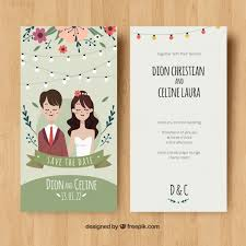 wedding card invitation wedding card invitation with and flowers vector free