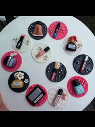 makeup cake toppers makeup cupcake toppers cake by rosi cakesdecor