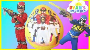 power ranger halloween costumes for kids giant egg surprise opening power ranger dino charge kinder egg