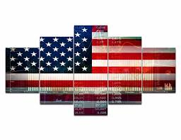 5 canvas american flag posters hd prints