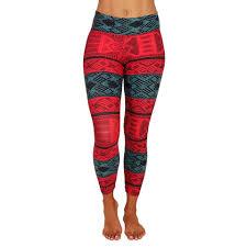 red patterned leggings patterned yoga leggings yoga patterned leggings for women