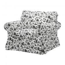 White Armchair Slipcover Ektorp Armchair Slipcover Cover Hovby Floral Black White