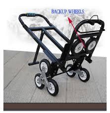 portable stair climbing folding cart climb hand truck backup