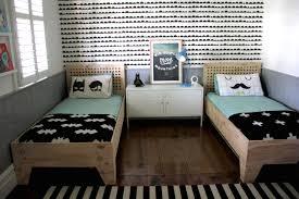 Two Tone Walls Mom U0027s Best Network Modern Shared Big Kids Room For 2 Boys