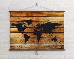 large wooden map etsy