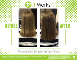 it works hair skin and nails vitamins are the best around check