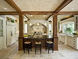kitchen island with posts kitchen wood beams design ideas