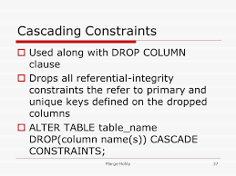 Alter Table Drop Column Sections 10 U2013 Constraints Ppt Download