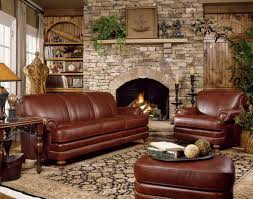 Decorating Ideas For Living Rooms With Brown Leather Furniture Decorating Awesome Chair With Ottoman By Craftmaster Furniture