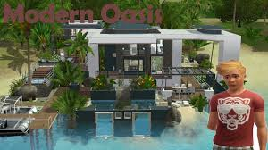 build pool house the sims 3 house building modern oasis 47 speed build youtube