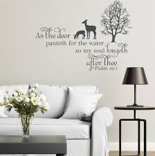 Bible Verses For The Home Decor Vinyl Wall Decal Psalm 42 1 As The Deer Panteth Bible Verse