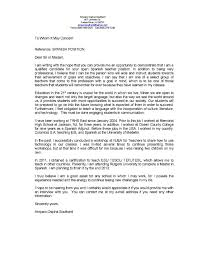 best solutions of cover letter for study abroad position with