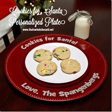 cookies for santa plate personalized cookies for santa plate that s what che said