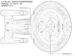 Uss Enterprise Floor Plan by The Blueprints Com Blueprints U003e Science Fiction U003e Star Trek
