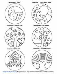 free printouts to color and make your own tree advent
