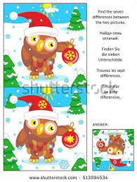 winter new year visual puzzle stock vector 524246896