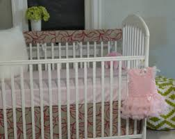 pink crib bedding etsy