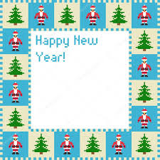 christmas card of pixel art u2014 stock vector lantica 36376283