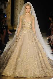 elie saab wedding dresses a high fashion gold wedding dress from elie saab brides