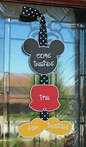 mickey mouse party door sign come inside it u0027s fun inside etsy