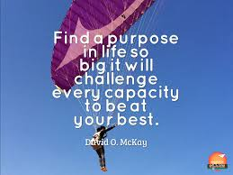 Challenge Purpose Find A Purpose In So Big It Will Challenge Every Capacity To