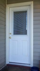 Tan Mini Blinds Entry Door Mini Blinds Premium 1 2 Lite Right Hand Inswing Mini