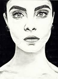 how to draw cara delevingne step by step portraits people free