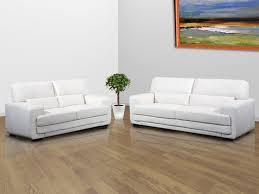 canap cuir blanc canapé blanc en cuir intérieur déco