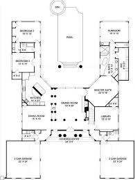 U Shaped House Plans With Pool In Middle 12 Best House Plans Images On Pinterest Home Design Floor Plans